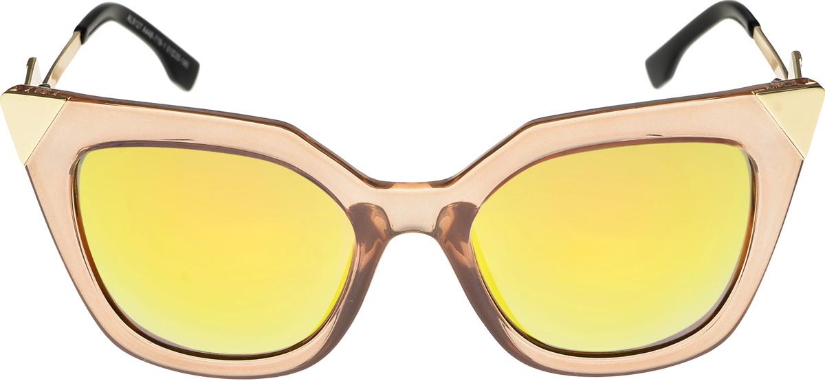 Очки солнцезащитные женские Vittorio Richi, цвет: золотистый. ОС9127с448-719-1/17fОС9127с448-719-1/17fОчки солнцезащитные Vittorio Richi это знаменитое итальянское качество и традиционно изысканный дизайн.
