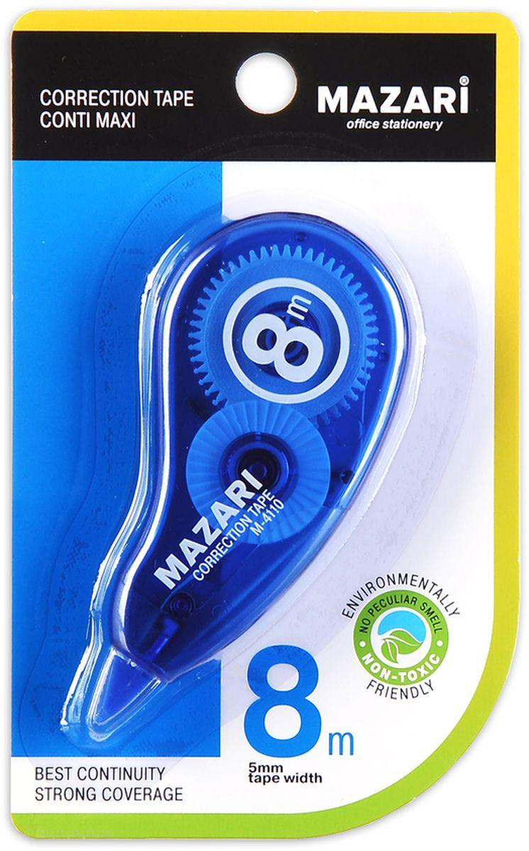 Mazari Корректирующая лента-роллер Conti Maxi 5 мм x 8 мМ-4110Корректирующая лента-роллер CONTI MAXI, 5ммХ8м