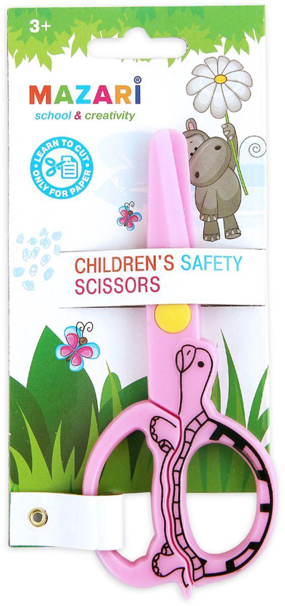 Mazari Ножницы детские 12 смМ-5626Ножницы детские 120 мм, безопасные пластиковые лезвия, пластиковые ручки.