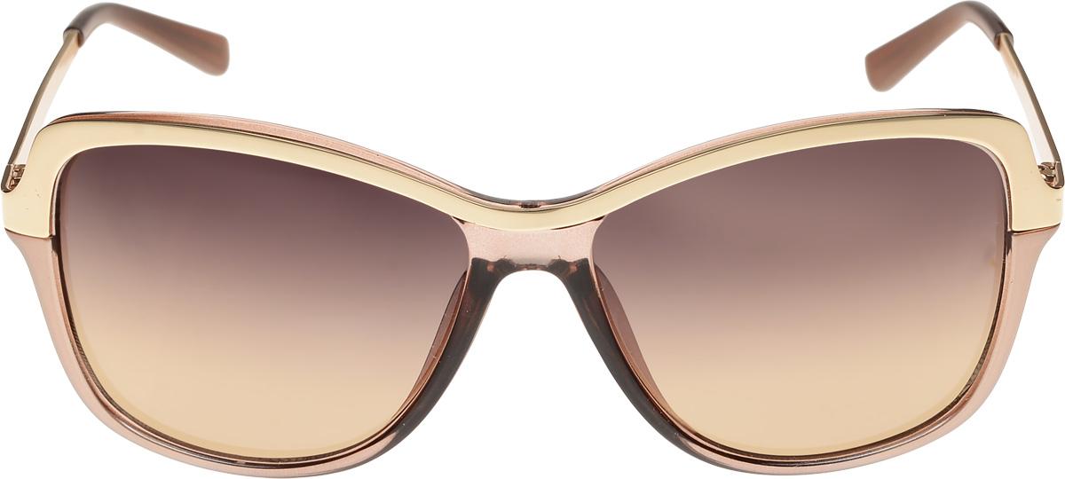 Очки солнцезащитные женские Vittorio Richi, цвет: бежевый, золотистый. ОС043c678-643-1/17fОС043c678-643-1/17fОчки солнцезащитные Vittorio Richi это знаменитое итальянское качество и традиционно изысканный дизайн.