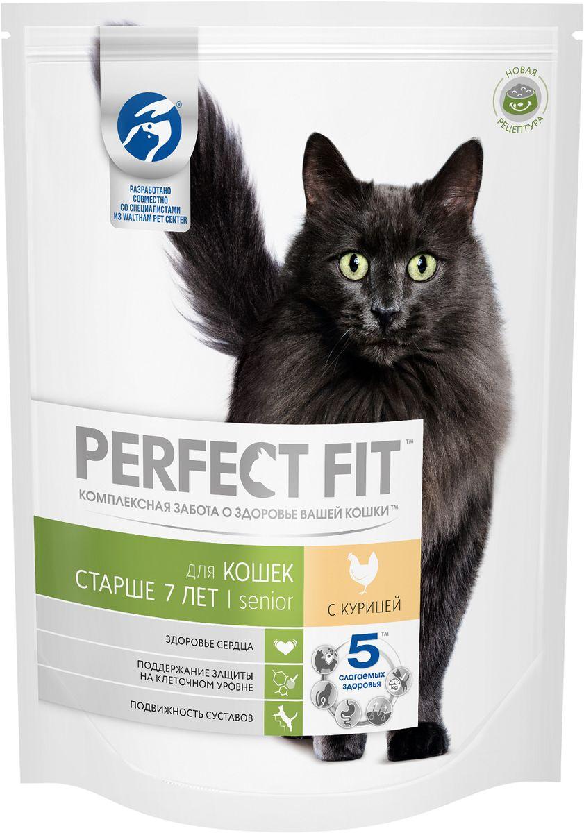 Корм сухой Perfect Fit, для кошек старше 7 лет, с курицей, 650 г42740