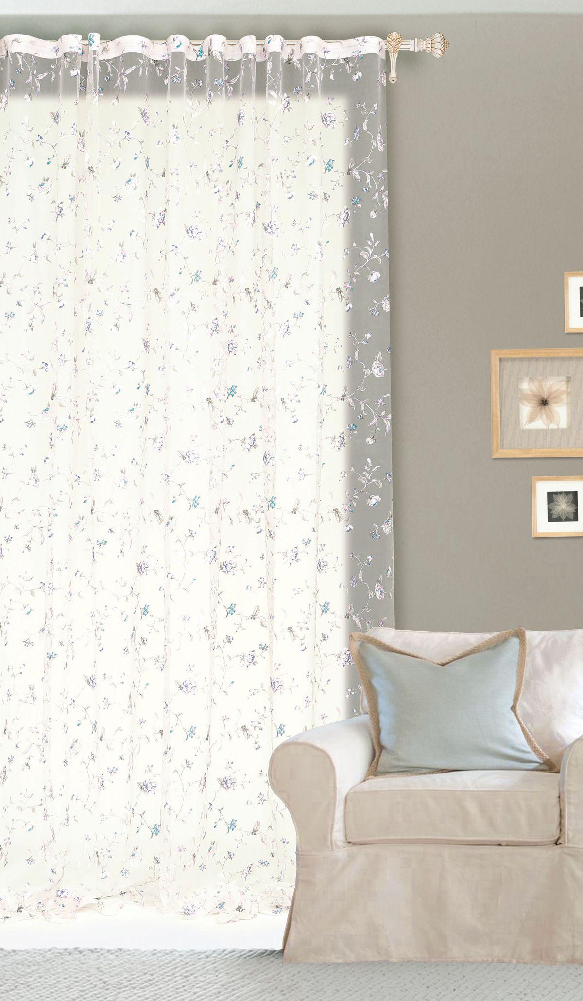 Штора готовая Garden, на ленте, цвет: белый, 300х260 см. С 10250 - W260 V5С 10250 - W260 V5Изящная штора для гостиной Garden выполнена из ткани с оригинальной структурой. Приятная текстура и цвет штор привлекут к себе внимание и органично впишутся в интерьер помещения. Штора крепится на карниз при помощи ленты, которая поможет красиво и равномерно задрапировать верх.
