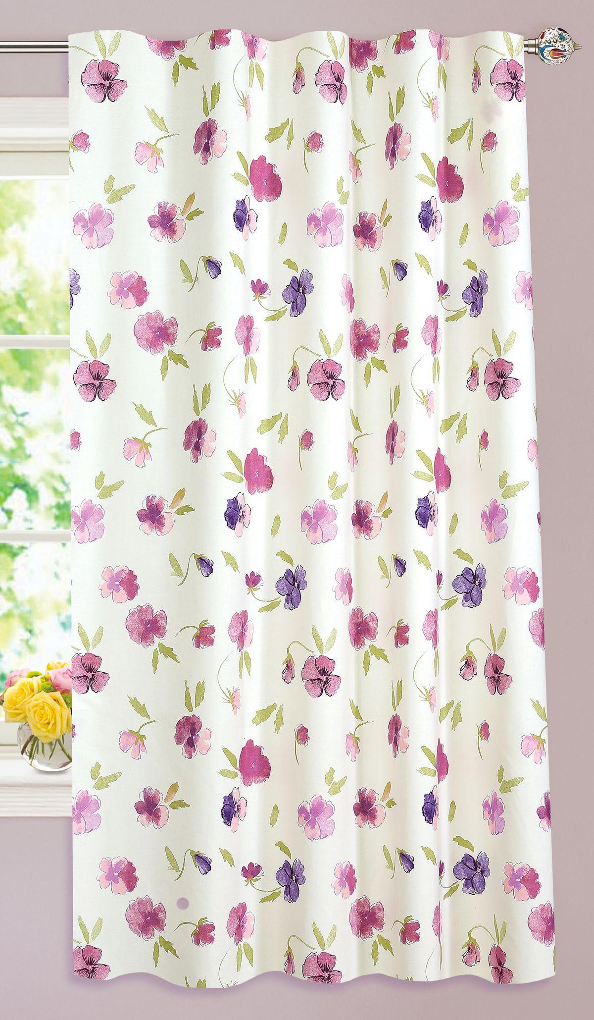 Штора готовая Garden, на ленте, цвет: розовый, 140х180 см. С 10292 - W1687 V22С 10292 - W1687 V22Штора для кухни Garden выполнена из плотной ткани с рисунком. Приятная текстура материала и яркая цветовая гамма привлекут к себе внимание и станут великолепным украшением кухонного окна. Штора оснащена шторной лентой для красивой сборки.