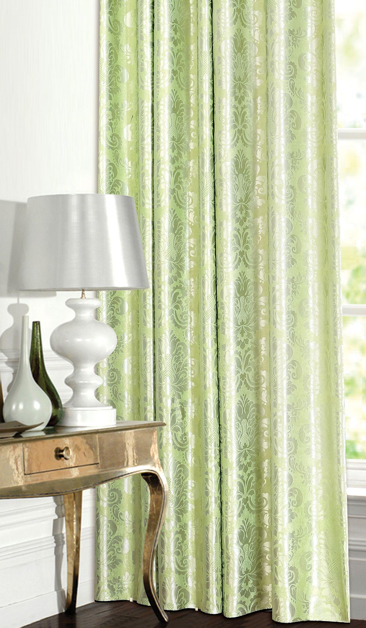 Штора готовая Garden, на ленте, цвет: зеленый, 180х260 см. С 537392 V7С 537392 V7Изящная штора для гостиной Garden выполнена из плотной ткани жаккард. Приятная текстура и цвет привлекут к себе внимание и органично впишутся в интерьер помещения. Штора крепится на карниз при помощи ленты, которая поможет красиво и равномерно задрапировать верх.