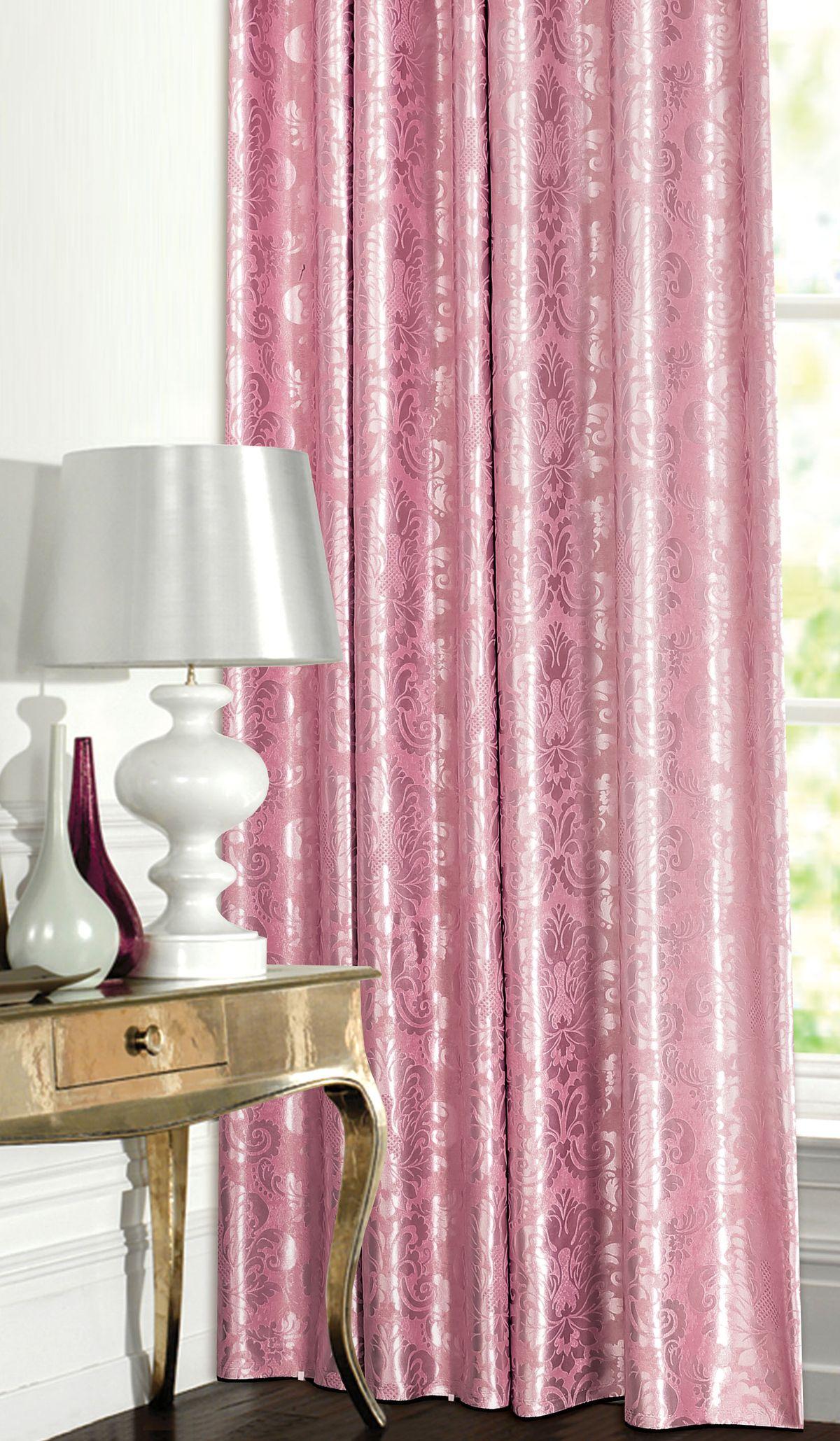 Штора готовая Garden, на ленте, цвет: розовый, 180х260 см. С 537392 V8С 537392 V8Изящная штора для гостиной Garden выполнена из плотной ткани жаккард. Приятная текстура и цвет привлекут к себе внимание и органично впишутся в интерьер помещения. Штора крепится на карниз при помощи ленты, которая поможет красиво и равномерно задрапировать верх.