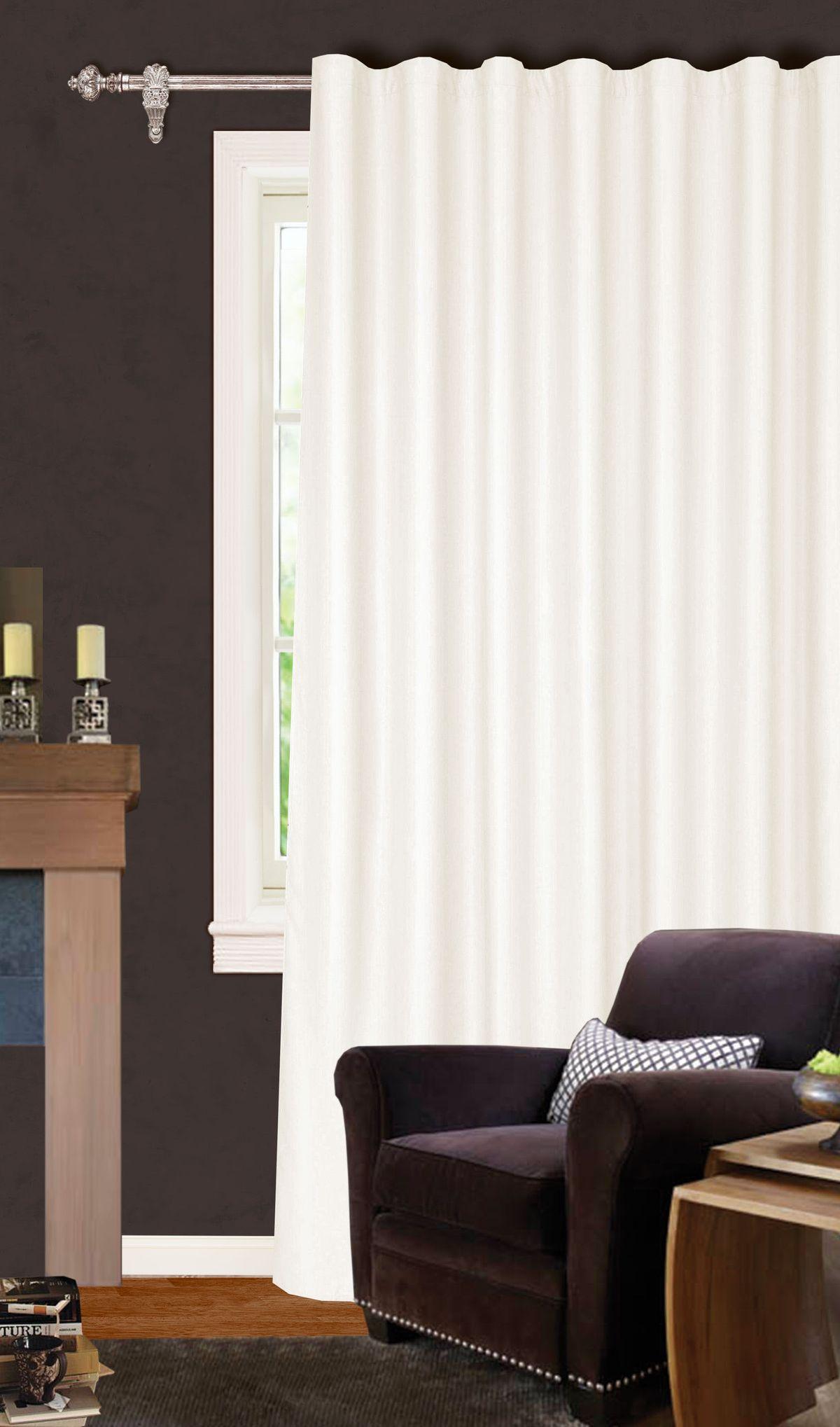 Штора готовая Garden, на ленте, цвет: экрю, 200х260 см. С W1223 V71173С W1223 V71173Изящная штора для гостиной Garden выполнена из плотной ткани. Приятная текстура и цвет привлекут к себе внимание и органично впишутся в интерьер помещения. Штора крепится на карниз при помощи ленты, которая поможет красиво и равномерно задрапировать верх.