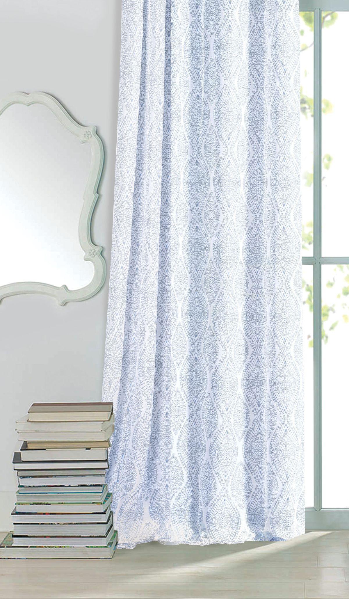 Штора готовая Garden, на ленте, цвет: голубой, 300х260 см. С 3293 - W356 V16С 3293 - W356 V16Изящная штора для гостинной Garden выполнена из ткани с оригинальной структурой. Приятная текстура и цвет штор привлекут к себе внимание и органично впишутся в интерьер помещения. Штора крепится на карниз при помощи ленты, которая поможет красиво и равномерно задрапировать верх.