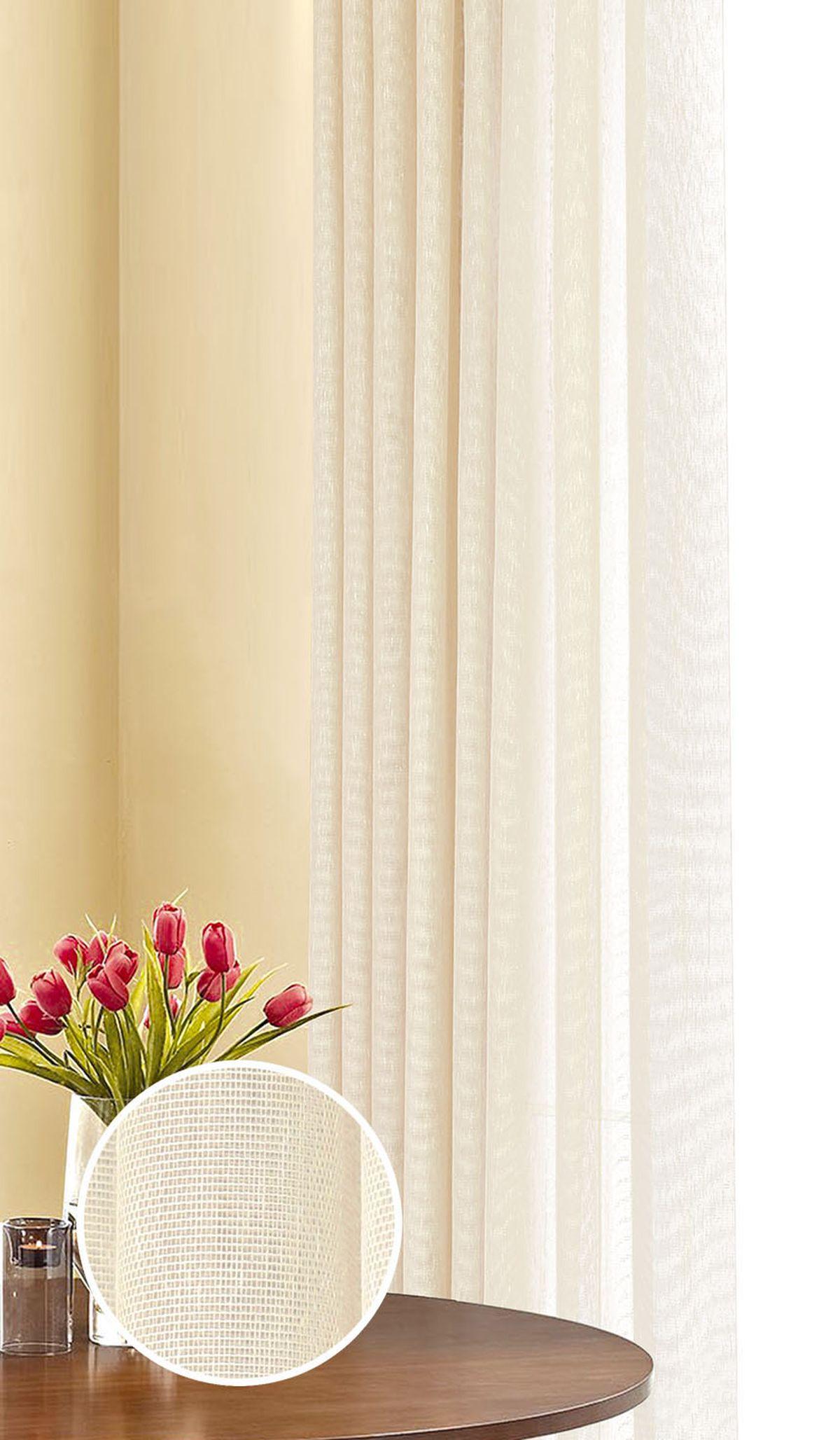 Штора готовая Garden, на ленте, цвет: бежевый, 290х180 см. С 537063 290х180 V7С 537063 290х180 V7Изящная штора Garden выполнена из ткани с оригинальной структурой. Приятная текстура и цвет штор привлекут к себе внимание и органично впишутся в интерьер помещения. Штора крепится на карниз при помощи ленты, которая поможет красиво и равномерно задрапировать верх.
