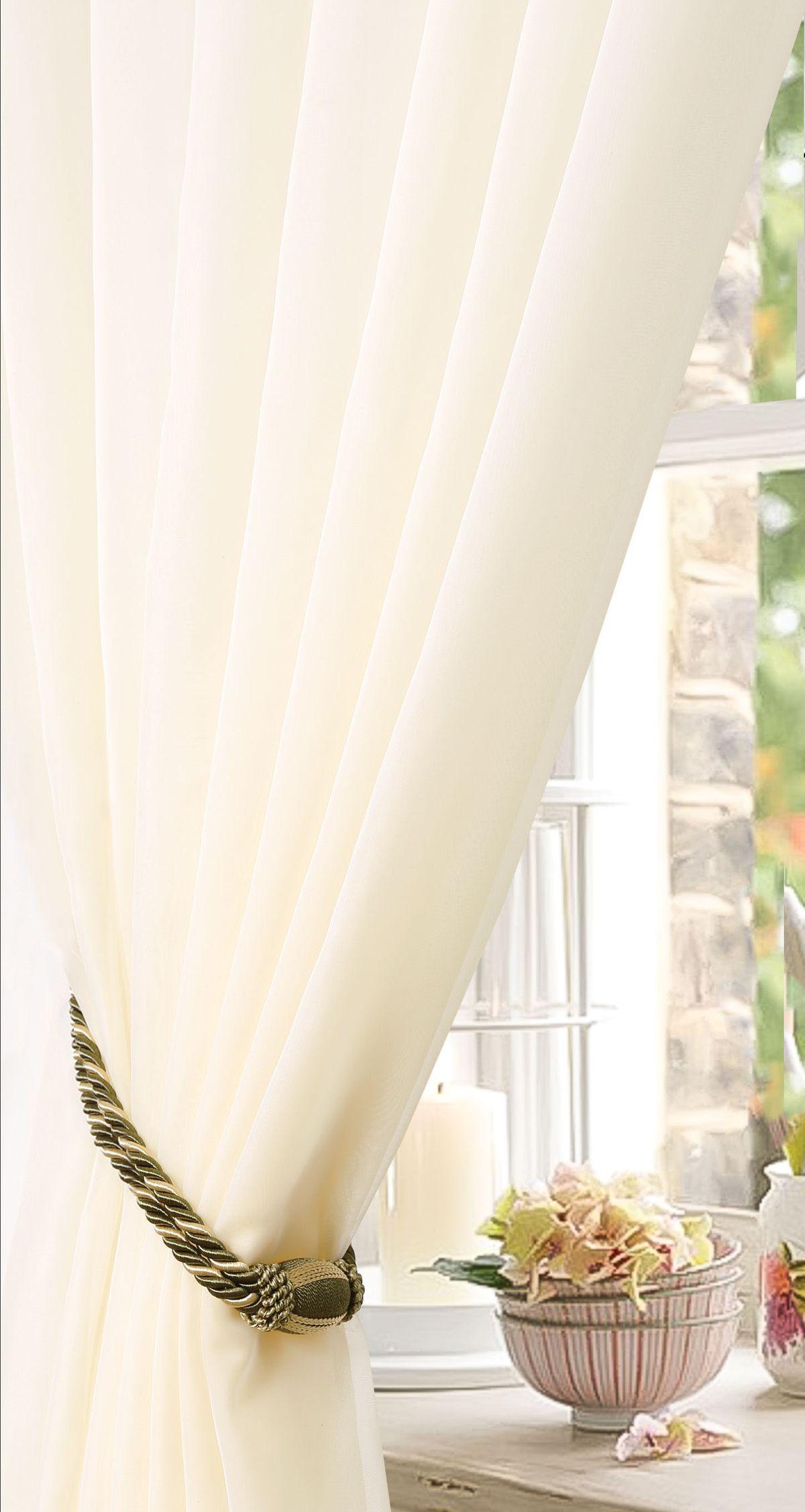 Штора готовая Garden, на ленте, однотонная, цвет: бежевый, 450х270 см. С W191 450х270 V71002С W191 450х270 V71002Тюлевая штора для гостиной Garden выполнена из легкой ткани, станет великолепным украшением любого окна. Воздушная ткань и приятная текстура создаст неповторимую атмосферу в вашем доме. Штора крепится на карниз при помощи ленты, которая поможет красиво и равномерно задрапировать верх.