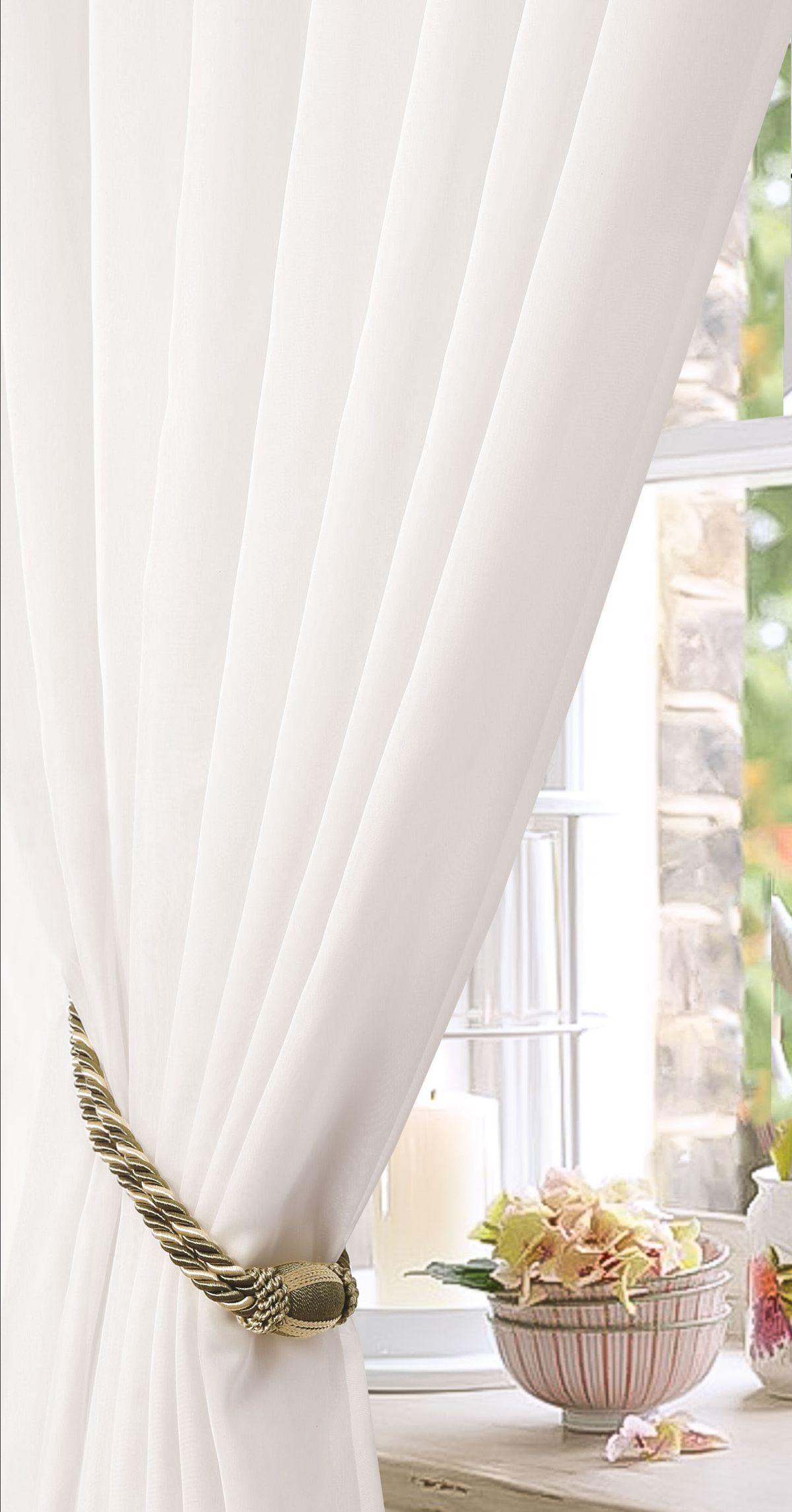 Штора готовая Garden, на ленте, однотонная, цвет: белый, 450х270 см. С W191 450х270 V70000С W191 450х270 V70000Тюлевая штора для гостиной Garden выполнена из легкой ткани, станет великолепным украшением любого окна. Воздушная ткань и приятная текстура создаст неповторимую атмосферу в вашем доме. Штора крепится на карниз при помощи ленты, которая поможет красиво и равномерно задрапировать верх.