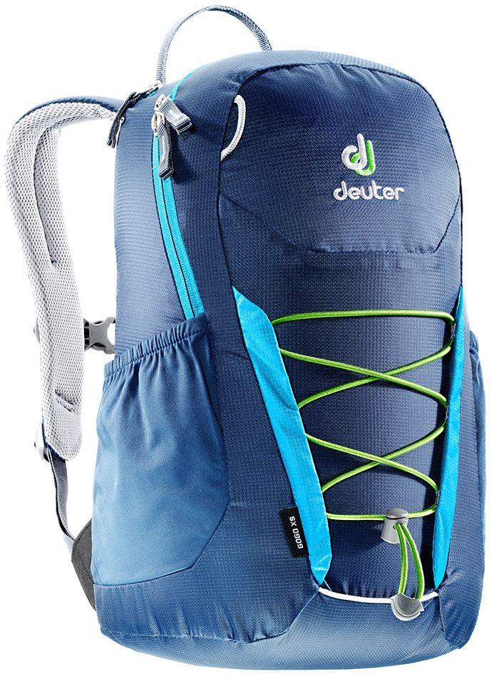 Рюкзак Deuter Gogo XS, цвет: синий, темно-синий, 13 л3611017_3306- спина хорошо вентилируется благодаря системе Airstripes - для детей в возрасте от 5 лет - анатомические, мягкие плечевые лямки - удобный доступ в основное отделение с 2-ходовой полукруглой молнией - внешний карман на молнии - эластичные боковые карманы - плавно регулируемый грудной ремешок - отделение для мокрых вещей - эластичный шнур-стяжка на внешней стороне Вес: 330 г Объем: 13 л Размеры: 39 x 23 x 17 см Материал: Macro Lite 210