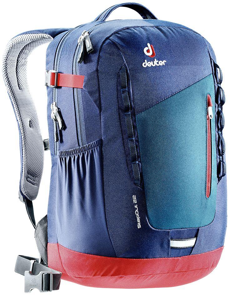 Рюкзак Deuter StepOut 22, цвет: темно-синий, 22 л3810415_3329- спинка Airstripes для великолепной вентиляции - очень комфортные, эргономичные, мягкие плечевые лямки - легкий доступ в основное отделение через двухходовую U-образную молнию - отделение для документов - отстегивающийся карабинчик для ключей - передний карман на молнии - эластичные боковые карманы - петля для габаритного фонарика - ручка для переноски - петли для навески - главное отделение под размер папки - дополнительное основное отделение под ноутбук размером 15,6 - внутренний карман для ценных вещей - один боковой карман на молнии - регулируемый нагрудный ремешок - съемный набедренный пояс Вес: 790 г Объем: 22 л Размеры: 46 x 30 x 19 см Материал: Super-Polytex/Macro Lite 210