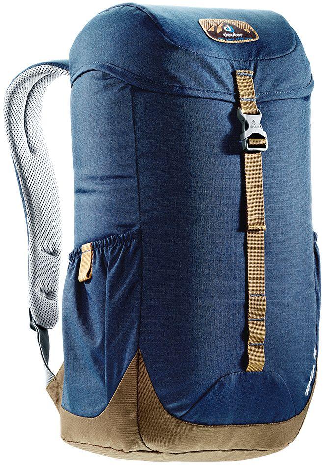 Рюкзак Deuter Walker 16, цвет: коричневый, темно-синий, 16 л3810517_3608- спинка Airstripes для великолепной вентиляции - очень комфортные, эргономичные, с мягкими краями плечевые лямки - отделение для документов - карабинчик для ключей - боковые карманы с эластичным, растягивающимся краем - внутренний карман для ценных вещей Вес: 520 г Объем: 16 л Размеры: 46 x 26 x 19 см