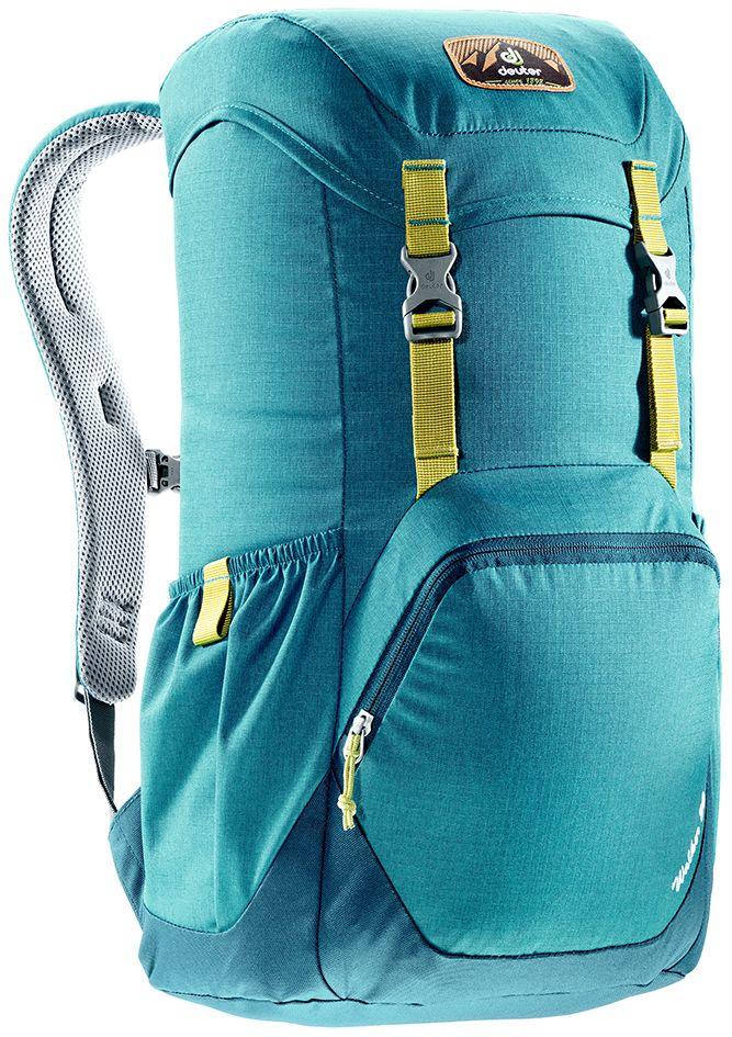 Рюкзак Deuter Walker 20, цвет: голубой, темно-синий, 20 л3810617_3325- спинка Airstripes для великолепной вентиляции - очень комфортные, эргономичные, с мягкими краями плечевые лямки - отделение для документов - карабинчик для ключей - боковые карманы с эластичным, растягивающимся краем - внутренний карман для ценных вещей - большой накладной карман на молнии с органайзером для мобильного телефона, кошелька и т.д. - сменный, в ретро-стиле, съемный поясной ремень Вес: 640 г Объем: 20 л Размеры: 48 x 28 x 21 см