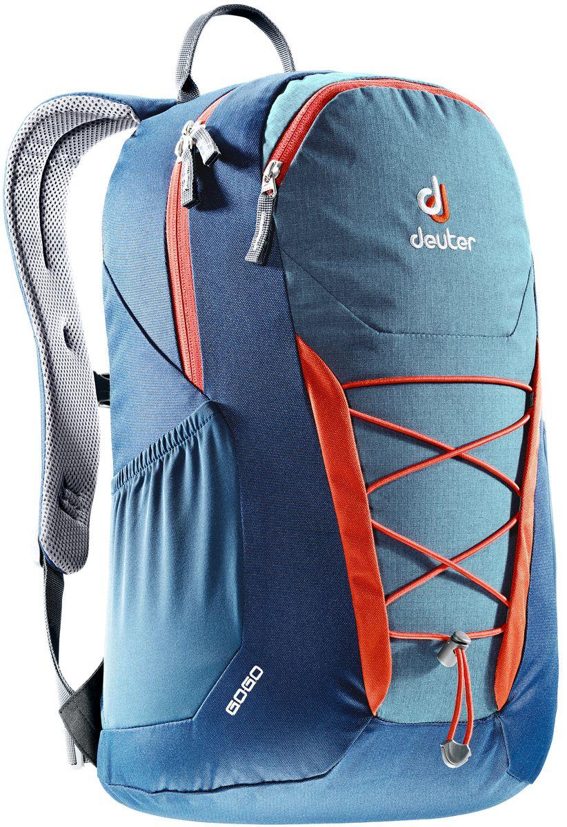 Рюкзак Deuter Gogo, цвет: темно-синий, 25 л3820016_3358- спинка Airstripes для великолепной вентиляции - очень комфортные, эргономичные, мягкие плечевые лямки - легкий доступ в основное отделение через двухходовую U-образную молнию - передний карман на молнии с карабинчиком для ключей - эластичные боковые карманы - нагрудный ремешок с плавной регулировкой - сменный поясной ремень - главное отделение размером папки для бумаг - отделение для документов - эластичный корд на фронтальной части рюкзака - внутренний карман для ценных вещей Вес: 590 г Объем: 25 л Размеры: 46 x 30 x 21 см Материал: Super-Polytex