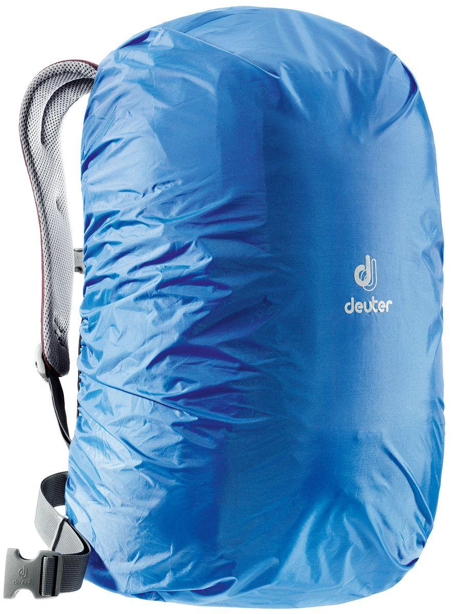 Чехол от дождя Deuter Raincover II, цвет: лазурный, 30-50 л39530_3013Чехлы от дождя ярких неоновых цветов гарантируют, что ваш рюкзак и его содержимое останется сухим даже после проливного дождя. Отличная влагозащита благодаря полиуретановому покрытию и швам, проклеенным лентой. Материал: Taffeta-Nylon Вес: 90 г Объем: 30-50 л Размеры: 69х30х27 см