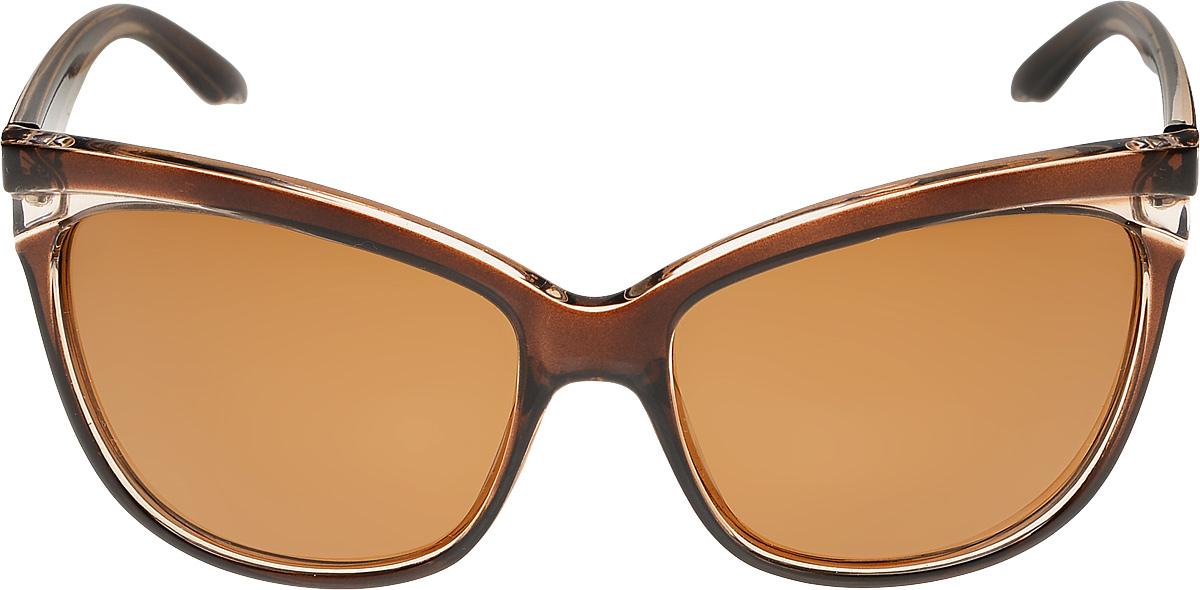 Очки солнцезащитные женские Vittorio Richi, цвет: коричневый. ОС051238c807-90/17fОС051238c807-90/17fОчки солнцезащитные Vittorio Richi это знаменитое итальянское качество и традиционно изысканный дизайн.