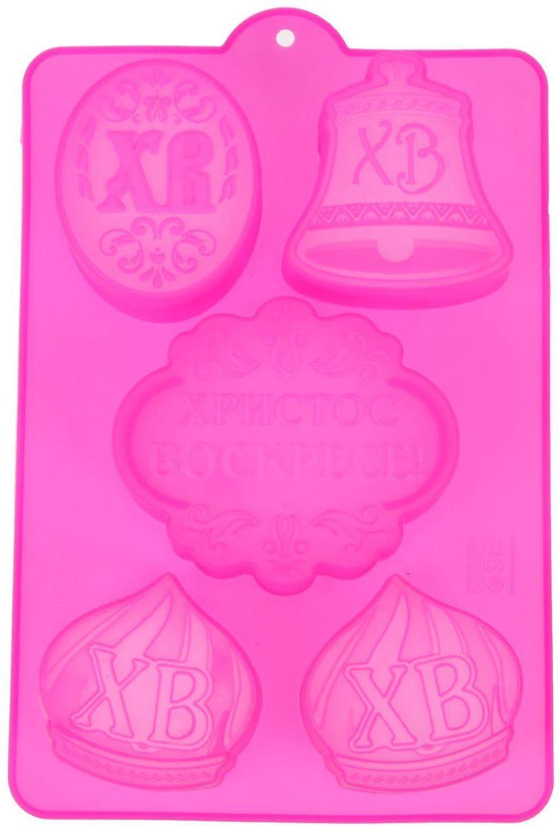 Форма для выпечки Христос Воскресе, цвет: розовый, 27 х 16,7 см. 10322341032234Форма для выпечки Христос Воскресе поможет Вам создать неповторимый кулинарный шедевр. Она обладает отличными потребительскими свойствами и уникальным дизайном, аналогов которым нет на российском рынке. Делайте роскошные кексы, маффины или капкейки и удивляйте всех вокруг их формой и вкусом. А если вы ищите подарок, силиконовая форма для выпекания – отличный вариант на любое событие. Даже если адресат презента не любит или не умеет готовить – выпекание в таких формах станет просто приятным и занятным времяпрепровождением. Ведь преимуществ у силиконовых форм огромное количество: равномерное распределение тепла во время выпекания (выпечка будет ровной со всех сторон); отсутствие необходимости в смазывании жиром или маслом, при этом выпечка не пригорает и легко достается из формы; не требуют особого ухода и легко моются; не придают специфических запахов приготавливаемой в них пище; помимо выпекания можно использовать для готовки пудингов, желе или формирования...