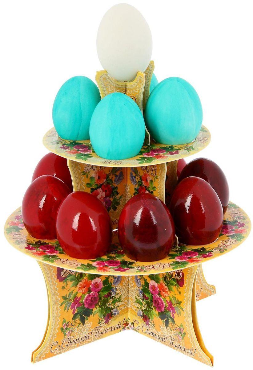 Подставка пасхальная ХВ. Цветы, на 12 яиц, 19,8 х 19,8 см. 12118101211810От хорошей кухонной утвари зависит половина успеха вкусного блюда. Чтобы еда была вкусной, важно ее правильно приготовить и сервировать. Подставка пасхальная со скретч-слоем на 12 яиц поможет вам в этом деле.