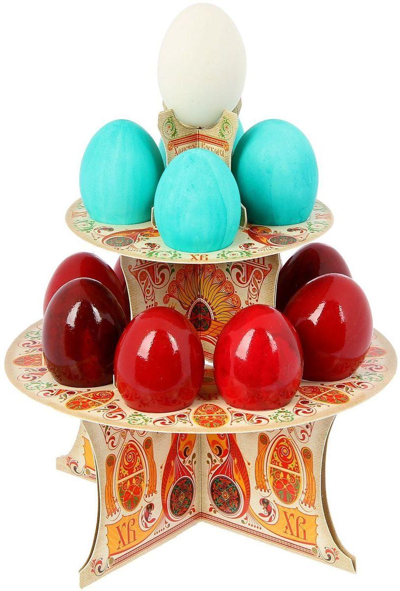Подставка пасхальная ХВ. Русские узоры, на 12 яиц, 19,8 х 19,8 см. 12118131211813От хорошей кухонной утвари зависит половина успеха вкусного блюда. Чтобы еда была вкусной, важно ее правильно приготовить и сервировать. Подставка пасхальная со скретч-слоем на 12 яиц поможет вам в этом деле.