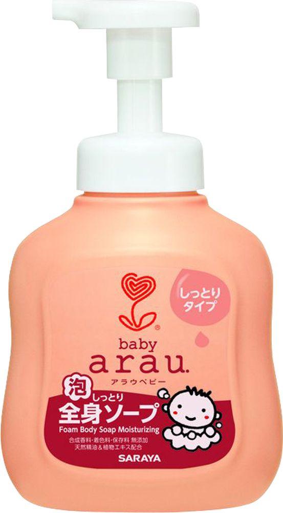 Arau Baby Гель пенящийся для купания малышей с увлажняющим эффектом 450 мл25802Пенящийся гель Arau Baby предназначен для купания и ухода за кожей малышей с первых дней жизни. Обогащенный натуральными экстрактами ромашки и шалфея, а также маслами апельсина, лайма, лаванды и иланг-иланга, гель Arau Baby бережно очищает и увлажняет нежную кожу ребенка. Обладает антисептическими, противовоспалительными и успокаивающими свойствами. 100% натуральный состав. Не содержит синтетических моющих компонентов, искусственных ароматизаторов и красителей. Товар сертифицирован.