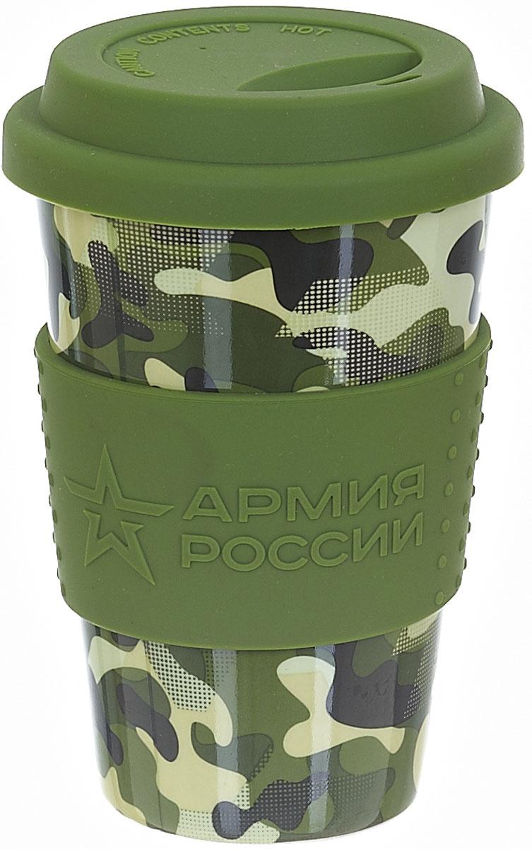 Термокружка Polystar Армия России, 310 мл5552112Дорожная кружка Армия России изготовлена из высококачественной керамики, не содержащего токсичных веществ. Двойные стенки дольше сохраняют напиток горячим и не обжигают руки. Надежная закручивающаяся крышка с защитой от проливания обеспечит дополнительную безопасность. Крышка оснащена клапаном для питья. Оптимальный объем позволит взять с собой большую порцию горячего кофе или чая. Кружка идеальна для ежедневного использования. Она станет вашим обязательным спутником в длительных поездках или занятиях зимними видами спорта. Не рекомендуется использовать в микроволновой печи и мыть в посудомоечной машине.