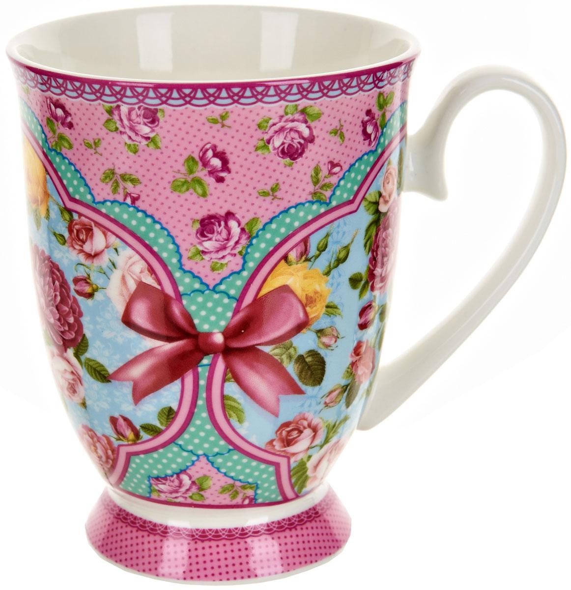 Кружка Polystar Розовый нектар, 360 млL0990560Оригинальная кружка Polystar, выполненная из высококачественного фарфора, сочетает в себе изысканный дизайн с максимальной функциональностью. Красочность оформления кружки придется по вкусу и ценителям классики, и тем, кто предпочитает утонченность и изысканность. В комплект входит кружка. Можно использовать в ПММ.