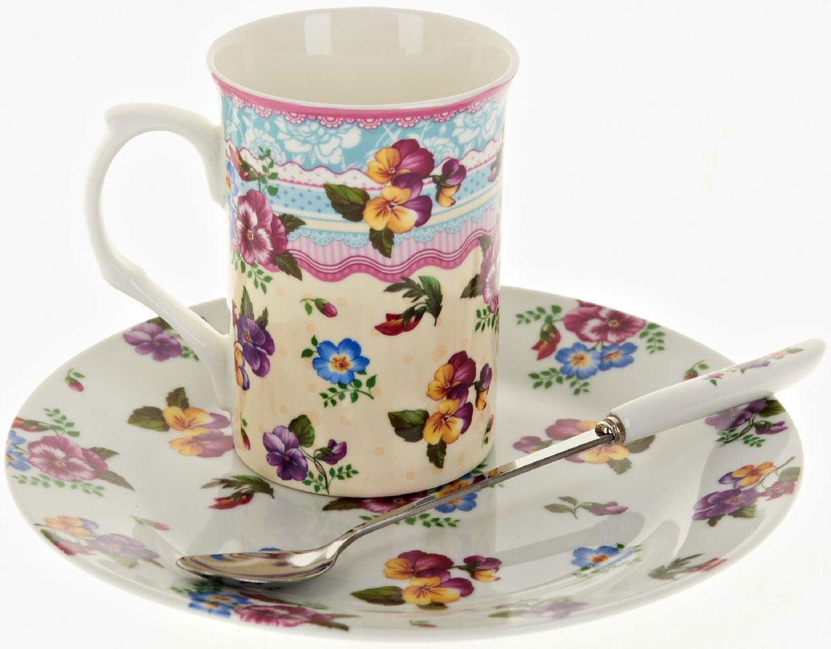 Чайная пара Nouvelle De France Версаль, с ложкой, 3 предметаM0661284Оригинальная фарфоровая кружка Nouvelle с ложкой + десертная тарелка, выполненная из высококачественной керамики, сочетает в себе изысканный дизайн с максимальной функциональностью. Красочность оформления кружки придется по вкусу и ценителям классики, и тем, кто предпочитает утонченность и изысканность. В комплект входит кружка и ложка и десертная тарелка. Можно использовать в ПММ.