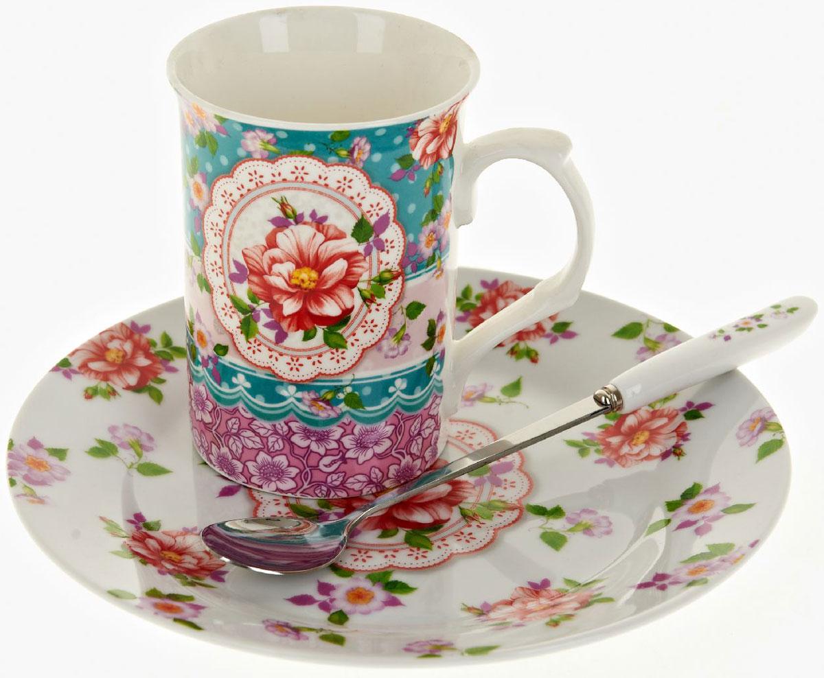 Чайная пара Nouvelle De France Цветочные кружева, с ложкой, 3 предметаM0661285Оригинальная фарфоровая кружка Nouvelle с ложкой + десертная тарелка, выполненная из высококачественной керамики, сочетает в себе изысканный дизайн с максимальной функциональностью. Красочность оформления кружки придется по вкусу и ценителям классики, и тем, кто предпочитает утонченность и изысканность. В комплект входит кружка и ложка и десертная тарелка. Можно использовать в ПММ.