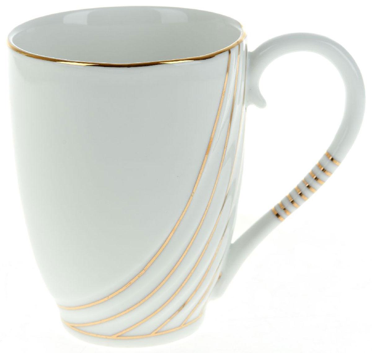 Кружка BHP Грация, 320 млM1490112Оригинальная кружка Best Home Porcelain, выполненная из высококачественного фарфора, сочетает в себе простой, утонченный дизайн с максимальной функциональностью. Оригинальность оформления придутся по вкусу тем, кто ценит индивидуальность. В комплект входит кружка. Можно использовать в ПММ.