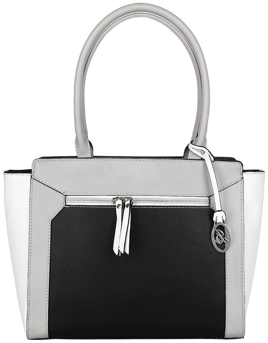 Сумка женская Jane Shilton, цвет: черный. 22952295m_blСимпатичная сумочка на двух ручках средней длины. Застежка на молнию. Внутри потайной кармашек на молнии и для мобильного телефона. Сзади и спереди карманы на молнии.