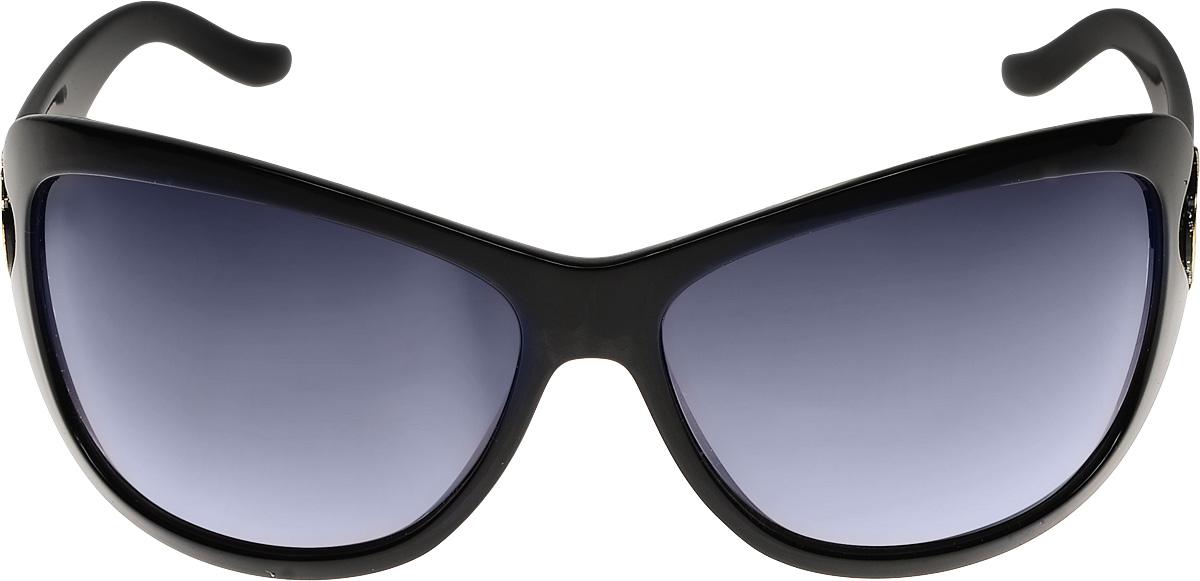 Очки солнцезащитные женские Vittorio Richi, цвет: черный. ОС151278с10-637-9/17fОС151278с10-637-9/17fОчки солнцезащитные Vittorio Richi это знаменитое итальянское качество и традиционно изысканный дизайн.