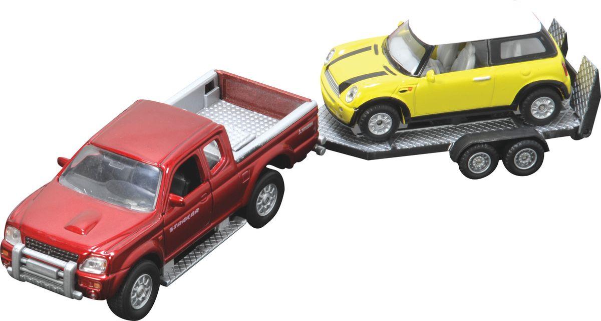 HTI Машинка с прицепом цвет красный желтый red_yellow/ast1370230
