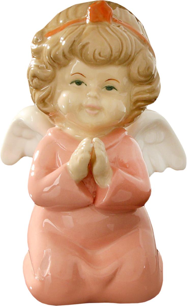 Сувенир пасхальный Ангелочек молитва в розовой одежке, 11 х 7 х 8 см. 15334771533477Пасха – весенний праздник, в это время года природа пробуждается после долгой спячки и поражает своим великолепием и красками. Данный сувенир подойдёт для украшения квартиры, офиса, магазина и т.д. С его помощью для вас открываются сотни вариантов украшения праздничного пространства либо можно использовать его в качестве подарка.