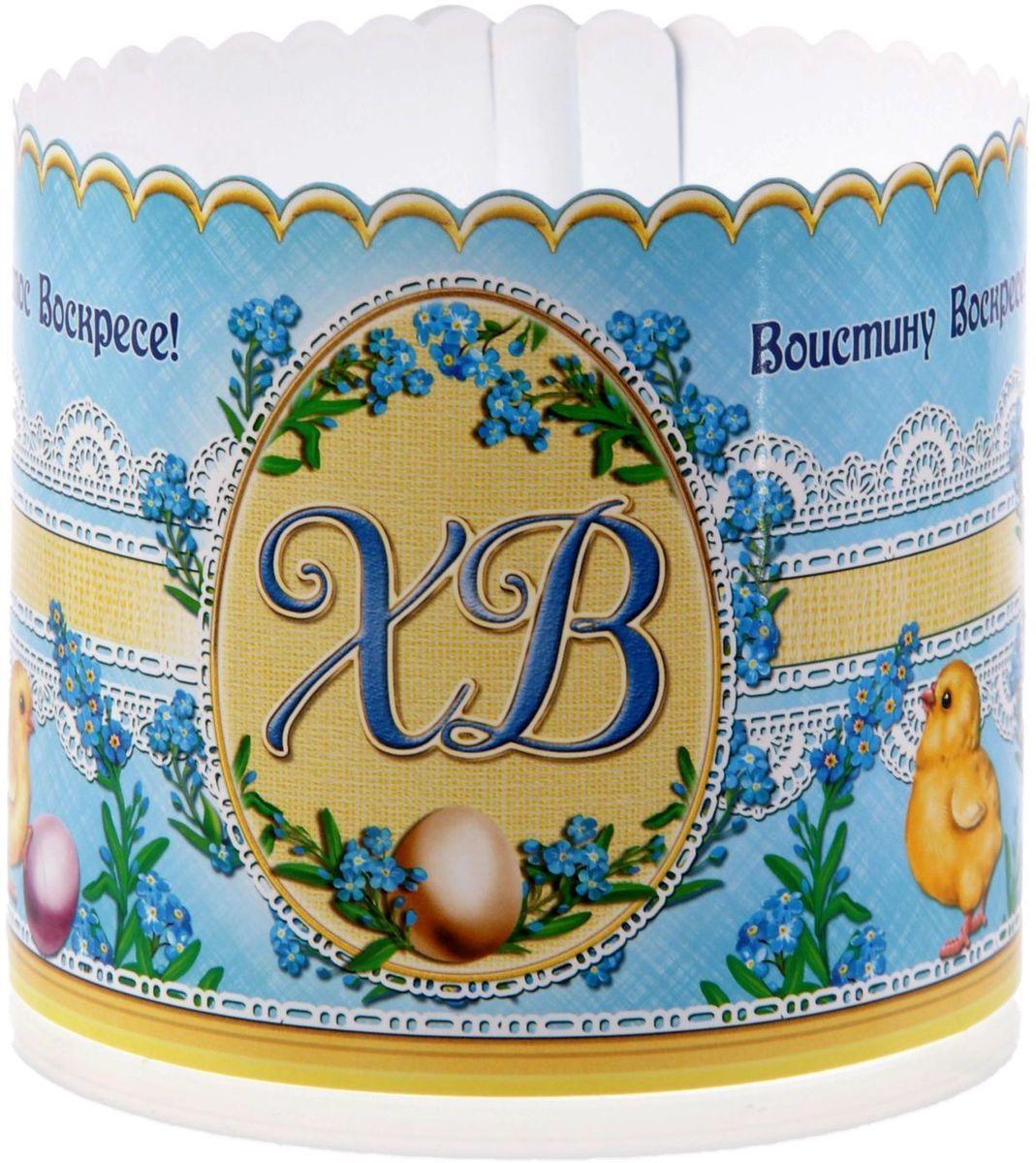 Ободок для пасхального кулича ХВ. Пасхальные яйца, 41,6 х 10 см. 15462661546266Ободок для пасхального кулича — отличное дополнение для торжества. Аксессуар украсит праздничный стол и защитит угощение от маленьких ручек, которые так и норовят отщипнуть кусочек от угощения. Размер ободка регулируется, поэтому он подходит для больших и маленьких куличей.