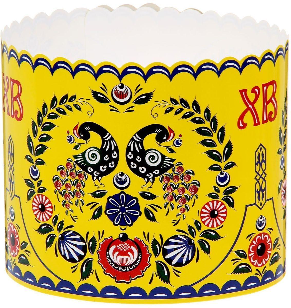 Ободок для пасхального кулича ХВ. Роспись, 41,6 х 10 см. 15462711546271Ободок для пасхального кулича — отличное дополнение для торжества. Аксессуар украсит праздничный стол и защитит угощение от маленьких ручек, которые так и норовят отщипнуть кусочек от угощения. Размер ободка регулируется, поэтому он подходит для больших и маленьких куличей.