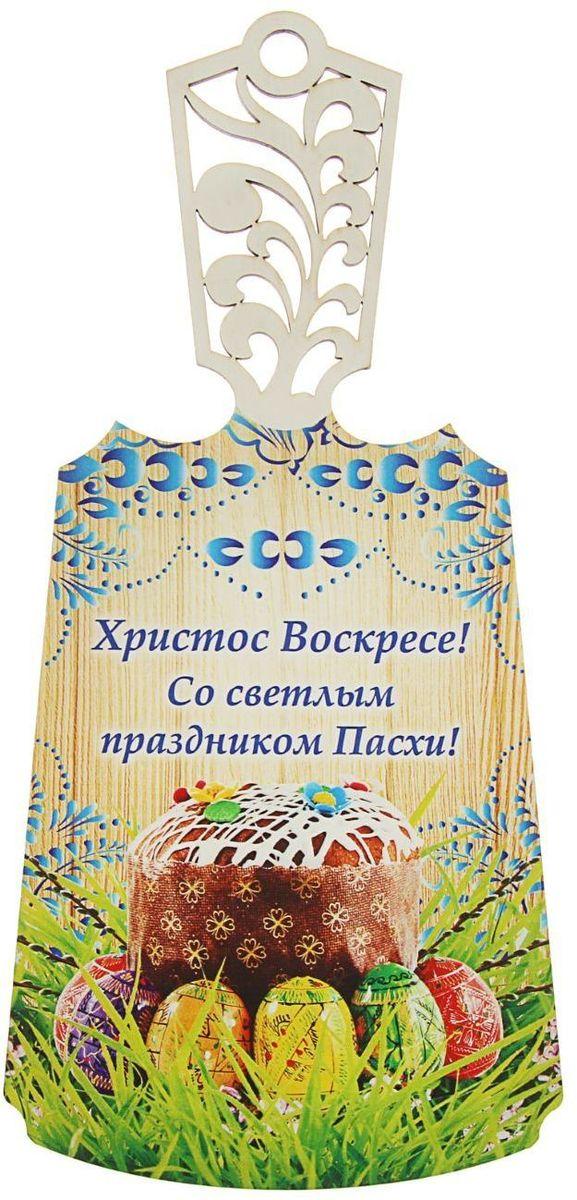 Доска разделочная Гжель. Пасха, с резной ручкой. 19285561928556От качества посуды зависит не только вкус еды, но и здоровье человека. Данный товар соответствуетроссийским стандартам качества. Любой хозяйке будет приятно держать его в руках.