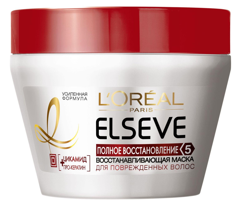 LOreal Paris Elseve Маска для волос Эльсев, Полное восстановление 5, восстанавливающая, 300 мл