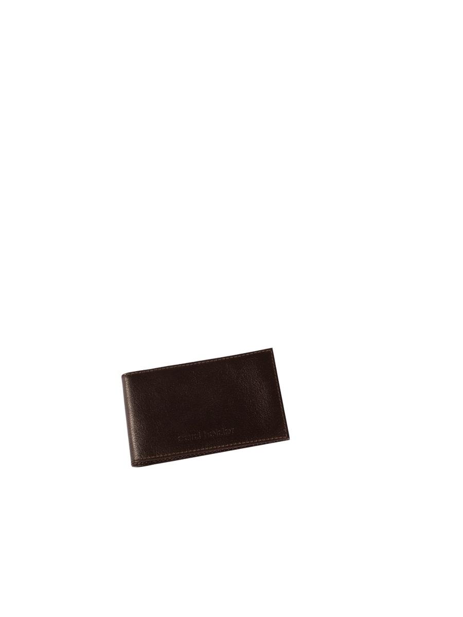 Визитница мужская Befler Грейд, цвет: темно-коричневый. K.5.-9K.5.-9Кредитница из коллекции «Грейд» выполнена из натуральной кожи зернистой текстуры. На внутреннем развороте 2 кармана из прозрачного пластика. Внутренний блок на 40 визитных и 20 кредитных карт. Отличительная черта: декоративное тиснение «Сard holder».