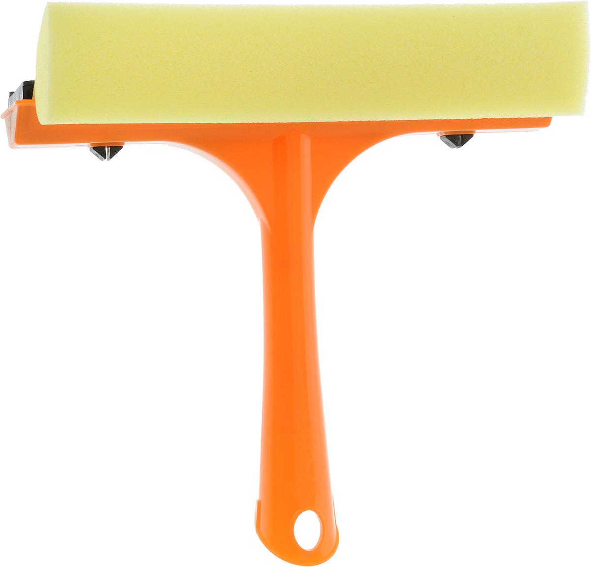 Стеклоочиститель Svip, с водосгоном, цвет: оранжевый, желтый, длина 20 смSV3057РЖ-23PSСтеклоочиститель Svip, оснащенный удобной пластиковой ручкой, станет незаменимым помощником при уборке. Стеклоочиститель с одной стороны имеет поролоновую губку для тщательного отмывания, а с другой резиновую кромку, с помощью которой легко собрать всю влагу, оставив стекло зеркально чистым и без разводов. Длина ручки: 15,5 см, Ширина рабочей поверхности: 21,3 см.