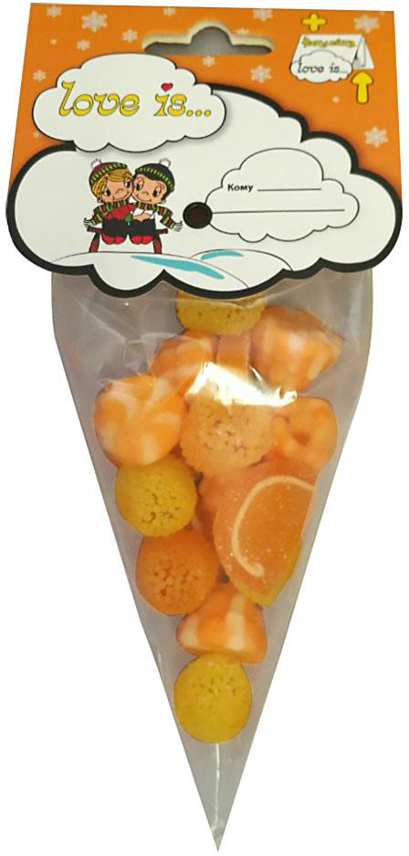 Love is мармелад ОранжМикс, 75 г70326Оранджмикс от Love is - это микс из 4-х видов мармелада: апельсиновые дольки, мармелад в обсыпке со вкусом лимона, мандарина и жевательный мармелад с жидким центром с нежнейшим йогурно-апельсиновым вкусом. Наслаждение для ваших любимых! В каждой упаковке стикер с любимыми героями от Love is.