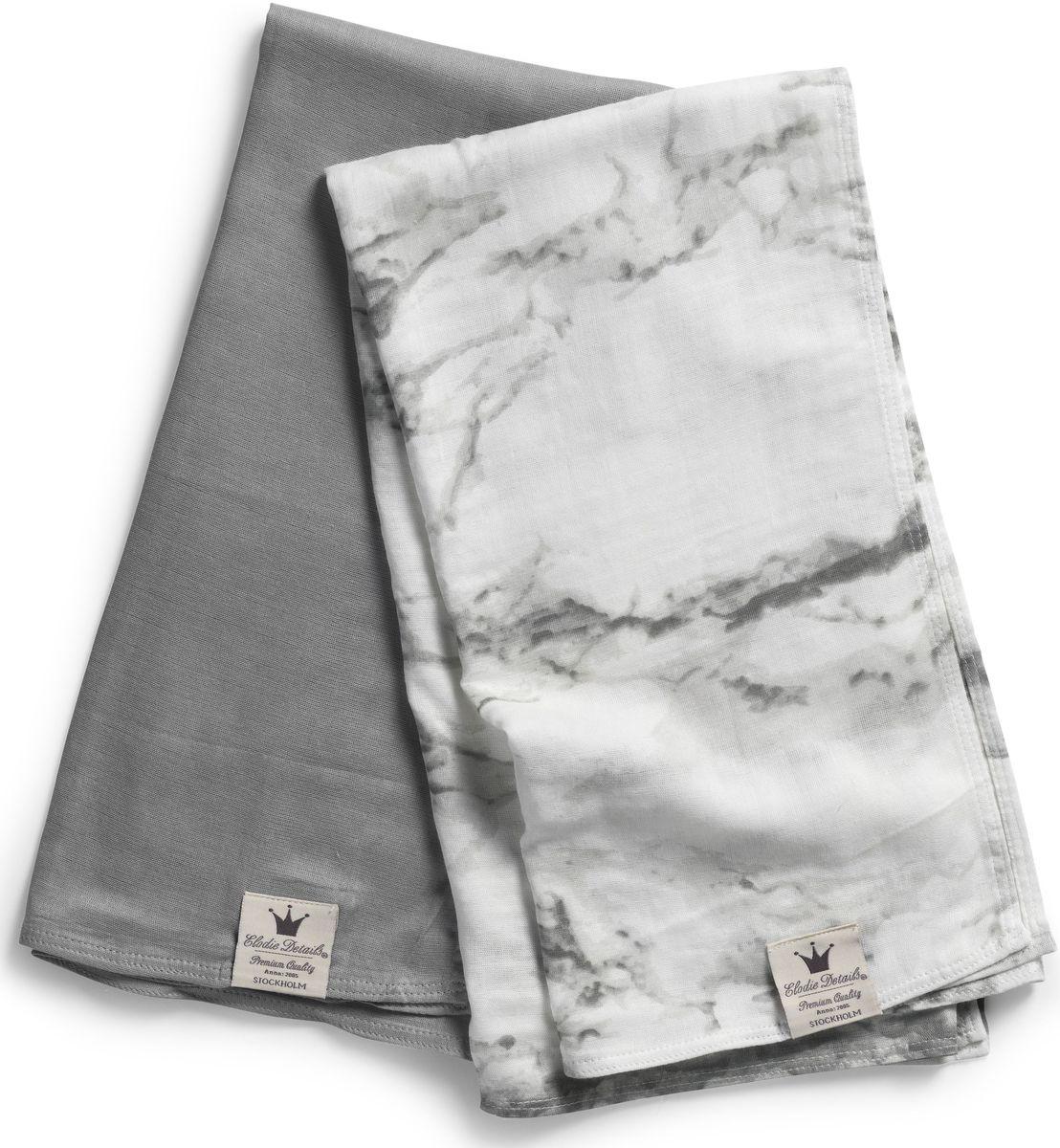 Elodie Details Плед детский Marble Grey 80 см х 80 см