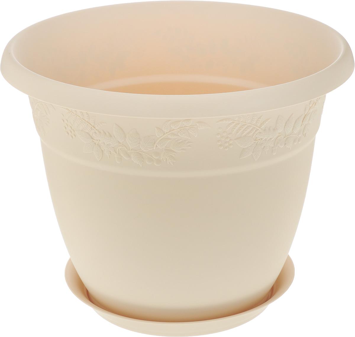 Кашпо Idea Рябина, с поддоном, цвет: белая глина, 10 лМ 3058_белая глинаКашпо Idea Рябина изготовлено из высококачественного полипропилена (пластика). Специальный поддон предназначен для стока воды. Изделие прекрасно подходит для выращивания растений и цветов в домашних условиях. Лаконичный дизайн впишется в интерьер любого помещения. Диаметр поддона: 21,5 см. Объем кашпо: 10 л. Диаметр кашпо по верхнему краю: 30,5 см. Высота кашпо: 25 см.
