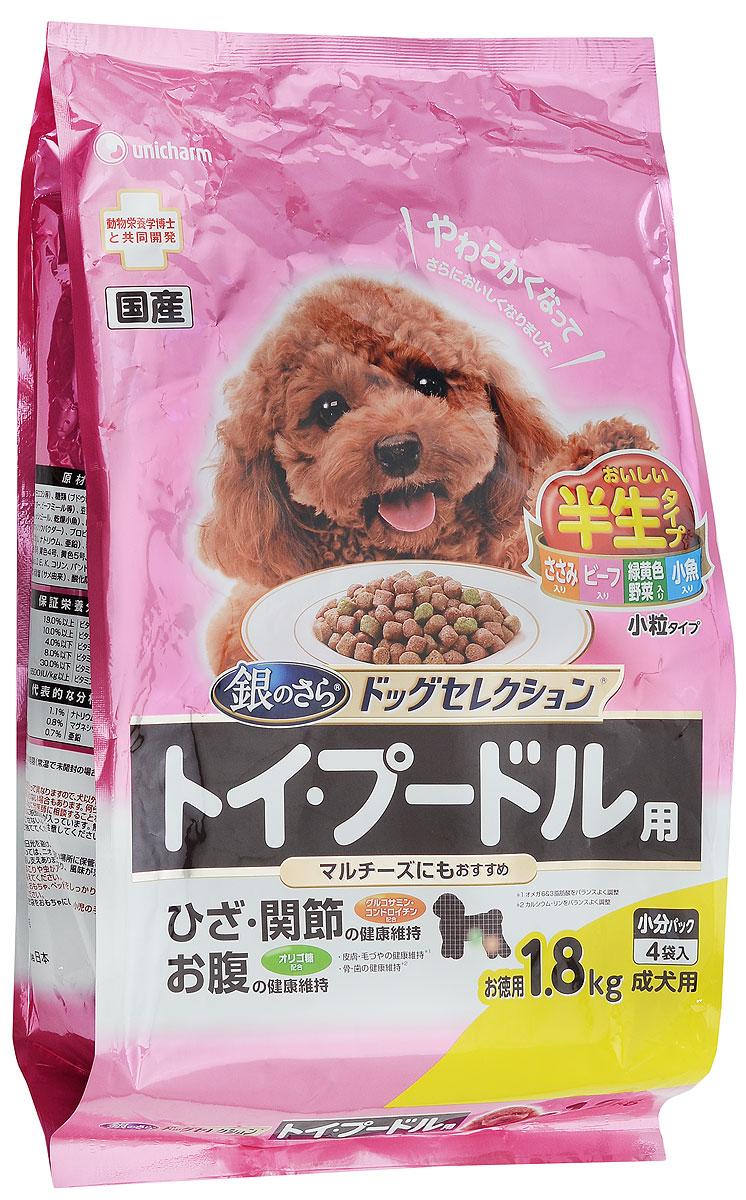 Корм сухой Unicharm Gaines Dog Selection для собак породы пудель, мальтийская болонка, 1,8 кг696774Сбалансированный мягкий корм Unicharm Gaines Dog Selection для пуделя и мальтийской болонки непременно понравится даже самым привередливым представителям этих пород и удовлетворит самый взыскательный вкус. Ароматные маленькие гранулы содержат все необходимые витамины и минералы для поддержания здоровья вашего питомца. Сочетание ценных жирных кислот Омега 6 и 3 способствует росту здоровой красивой шерсти и предотвращает развитие заболеваний кожи. Витамины С и Е способствуют укреплению естественных защитных механизмов глаз собаки. Глюкозамин и хондроитин защищают хрящи и суставы животного, способствуют нормальному функционированию опорно-двигательного аппарата. Товар сертифицирован.