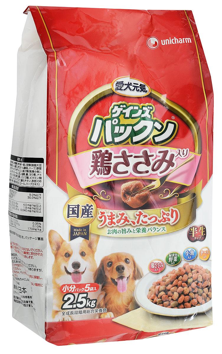 Корм сухой Unicharm Gaines Piranha. Нормализация пищеварения для собак, с курицей, овощами, рыбой и сыром, 2,5 кг619803Полнорационный мягкий корм Unicharm Gaines Piranha. Нормализация пищеварения - это хорошо сбалансированное питание для нормализации пищеварения взрослых собак. Ароматные маленькие гранулы с бесподобным вкусом курицы, овощей, рыбы и сыра содержат все необходимые питательные вещества и микроэлементы для здоровья вашего четвероногого друга. Входящие в состав олигосахариды стимулируют рост полезных бифидобактерий в кишечнике и нормализуют пищеварение собаки. Гармоничное сочетание минералов и витаминов способствуют поддержанию вашего питомца в отличной физической форме. Товар сертифицирован.