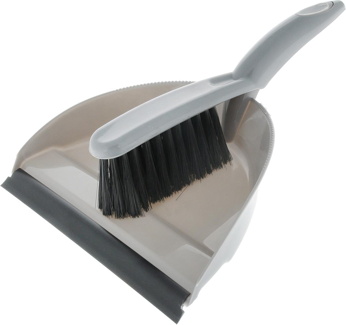 Набор для уборки Svip Клио, с кромкой, цвет: серый, 2 предметаSV3158СБНабор для уборки Svip Клио, состоит из щетки-сметки и совка, выполненных из полипропилена. Он станет незаменимым помощником в деле удаления пыли и мусора с различных поверхностей. Ворс щетки достаточно длинный, что позволяет собирать даже крупный мусор. Края совка оснащены зубчиками для чистки щетки после ее использования. Совок имеет резиновую кромку,благодаря которой удобнее собирать мусор. Ручка совка позволяет прикреплять его к рукоятке щетки. На рукояти изделий имеется специальное отверстие для подвешивания. Длина щетки-сметки: 26 см. Длина ворса: 5 см. Размер рабочей поверхности совка: 15 х 24 см. Размер совка (с учетом ручки): 30,2 х 24 х 5 см.