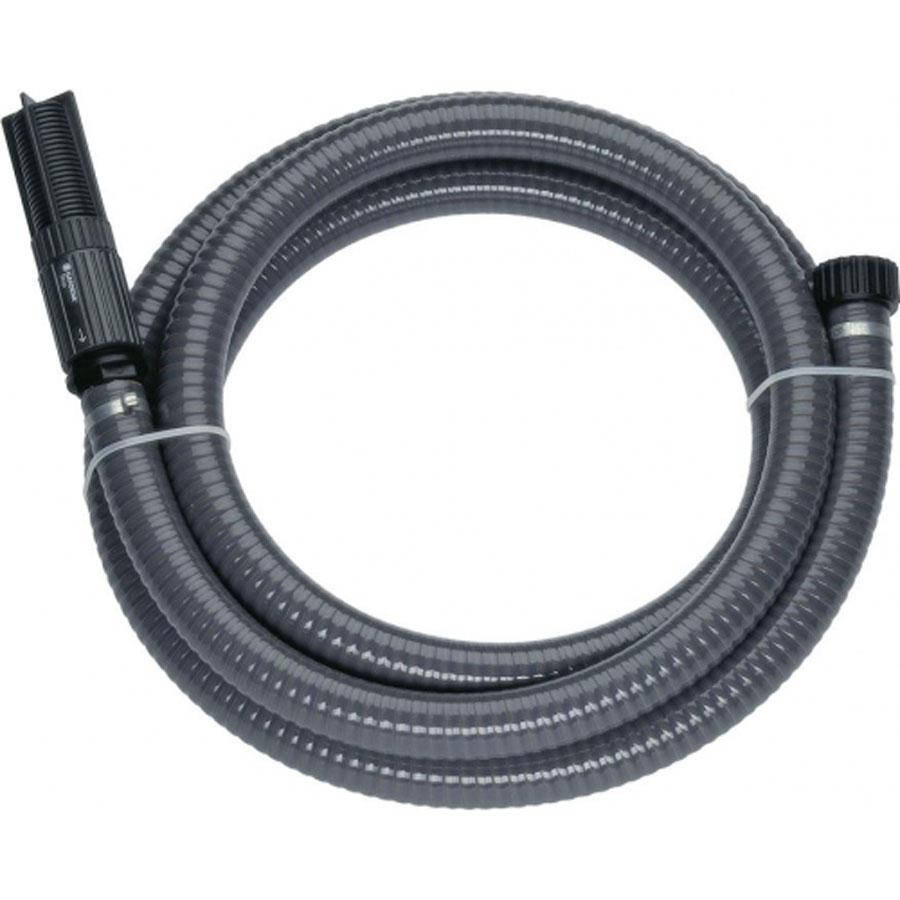 Шланг Gardena заборный с фильтром, 25 мм (1), 3.5 м. 01411-20.000.0001411-20.000.00Готовый к подключению вакуумоустойчивый спиральный армированный шланг для подсоединения к насосу напрямую. С фильтром для защиты насоса от повреждения вследствие попадания загрязнений, а также с обратным клапаном, который сокращает время всасывания насоса при повторном включении. Длина шланга 3,5 м, диаметр 25 мм (1 дюйм). Подходит для насосов с наружной резьбой 33,3 мм (G 1).