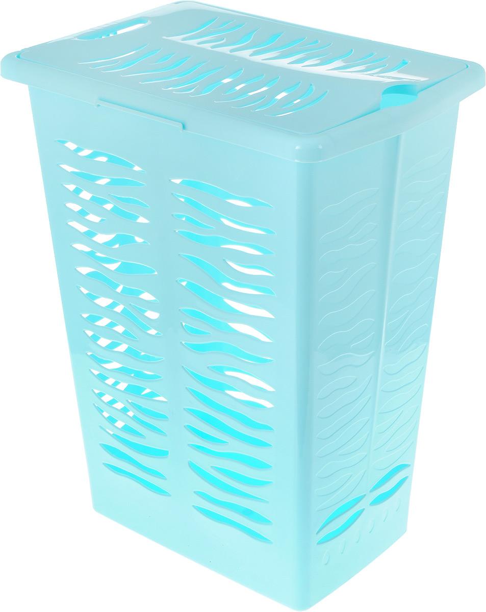 Корзина для белья BranQ Aqua, цвет: бирюзовый, 30 лBQ1706БРЗКорзина для белья BranQ Aqua изготовлена из прочного полипропилена и оформлена перфорированными отверстиями, благодаря которым обеспечивается естественная вентиляция. Благодаря широкому канту по верхним краям корзины, ее легко поднимать и держать в руках. Корзина оснащена крышкой и ручкой для переноски. На крышке имеется выемка для удобного открывания крышки. Такая корзина для белья прекрасно впишется в интерьер ванной комнаты. Размер корзины: 38 х 26 х 48 см, Объем: 30 л.