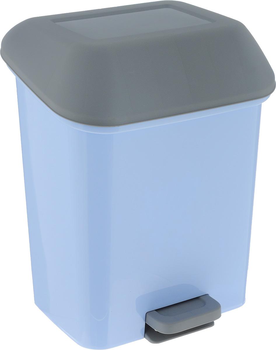 Контейнер для мусора Svip Квадра, с педалью, цвет: голубой, прозрачный, 15 лSV4061ГЛПКонтейнер для мусора с педалью с объемом 15 литров поможет поддержать порядок и чистоту на кухне, в туалетной комнате, за рабочим столом. Практичный контейнер для мусора оснащен удобной педалью, которая позволяет обеспечить и сохранять гигиену рук. Изделие оснащено внутренним ведром-вставкой с удобными скрытыми ручками – теперь сменить мусорный мешок, вымыть ведро при необходимости – не составит труда. Эстетика изделия превращает необходимый предмет кухни или туалетной комнаты в стильное дополнение к интерьеру. Высокое качество пластика обеспечивает долгий срок службы изделия. Его легкость и прочность оптимально решают проблему сбора мусора.