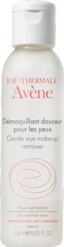 Avene Мягкий лосьон Soins des yeux для снятия макияжа с глаз 125 млC05137Лосьон имеет особую гелевую текстуру, разработанную специально для снятия макияжа с чувствительной кожи вокруг глаз. Особенно рекомендуется женщинам, использующим контактные линзы. Свойства: Благодаря высокому содержанию термальной воды Avene с успокаивающими и снимающими раздражение свойствами лосьон не пересушивает чувствительную кожу век. Формула, не содержащая агрессивных очищающих компонентов, мягко удаляет макияж. Нежирная гелевая текстура лосьона предотвращает сухость век. Обладая уровнем рН идентичным рН человеческой слезы, лосьон очень хорошо переносится.